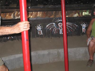 Interior, community house. Tongva Village reconstruction,  2 Jul 2005.