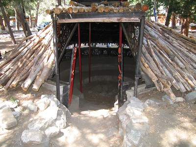 Exterior, community house. Tongva Village reconstruction,  2 Jul 2005.