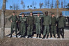Bn ORE team out for an inspection one Sunday morning.  CWO Mallard (2d fm left), CWO Bulger(3d fm left), CPT Reynolds (5th fm left)