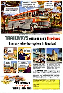 Trailways bus add.