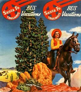 1940's SantaFe Trailways  brochure.