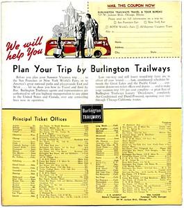 Burlington Trailways Brochure, reverse side.