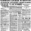 The front page of the Traverse City Record-Eagle on Nov. 11, 1918.