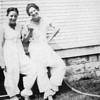 "Courtesy of Traverse Area Historical Society These two young women, identified only as ""Petertyl Ladies 1919,""  pose for a picture in what appear to be knickers, a popular outdoor attire of the era, that became the focus of a Traverse City mayor's ban in 1922. <a href=""http://www.record-eagle.com/150/local_story_068100325.html?keyword=topstory"">Read about it in our history section »</a>"