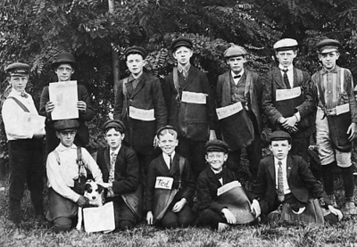 Photo courtesy of the Traverse Area Historical Society<br /> Daily Eagle paper boys around 1900. The Eagle was one of Traverse City's two dailies that merged in 1910 to create The Record-Eagle.