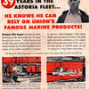 Nils Sagen Troller  Sea Pride Union Oil Dock   Advertisemet 1951 Astoria One of First Four Trollers 1912 From Astoria