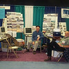 Jon Norgaard, Art Baade at Fish Expo, historic fishing photos booth, model of Heide.