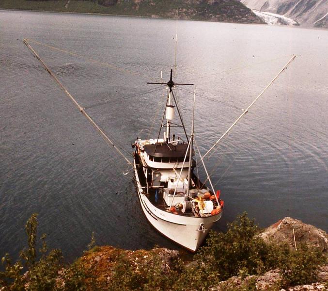 Taking Fresh Water From Stream  Lituya Bay Alaska