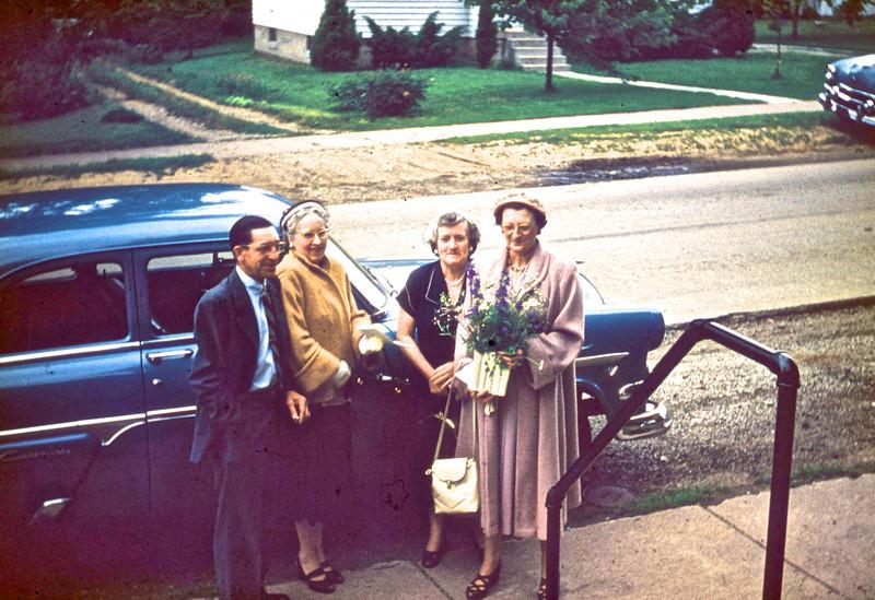 Ray & Helen Matthews, Mary Adams, Irma Molden.<br /> (Photo by Millie C. Shaffer)