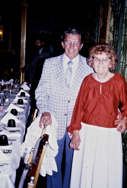 Ollie & Delores Chumchall at Ollie's Retirement Party.