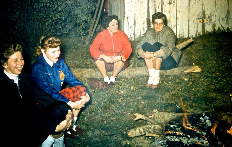 Kathy Gerstenecker, Marjie Gerstenecker, Mildred Martin, and Dot Scott.<br /> (Photo by Millie C. Shaffer)