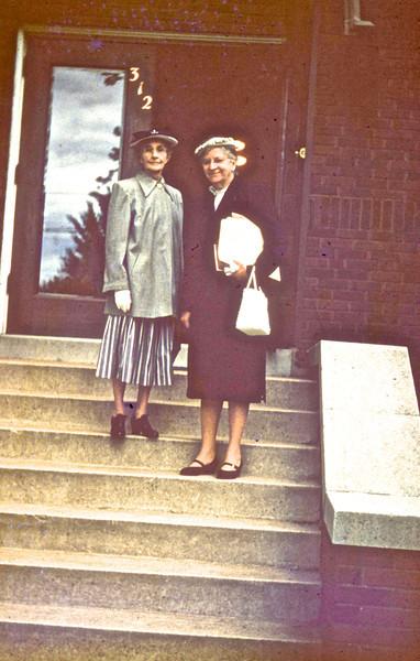 Cora Edwards & Jane Leib<br /> (Photo by Millie C. Shaffer)