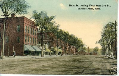 Turners Falls looking North from 3rd St