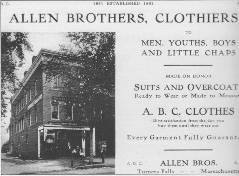 Turners Falls Adv Allen Bros