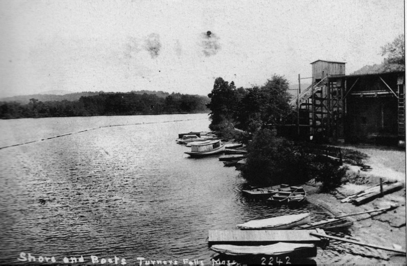 Turners Falls Boats on Conn 1913