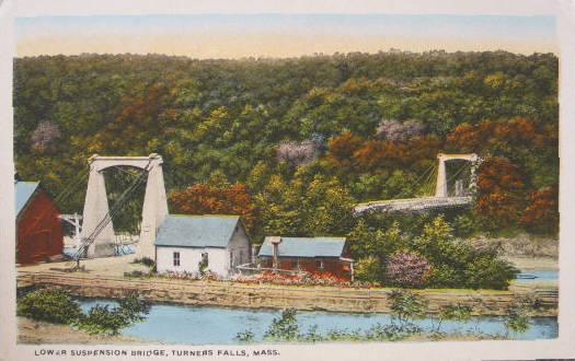Turners Falls Lower Suspension Bridge 1