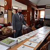 Tyngsboro assistant town administrator Justin Sultzbach in the former Littlefield Library, one of the areas of pending improvements in Tyngsboro town center.  JULIA MALAKIE/LOWELLSUN