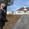 Tyngsboro assistant town administrator Justin Sultzbach, at the former Winslow School, one of the areas of pending improvements in Tyngsboro town center.  JULIA MALAKIE/LOWELLSUN