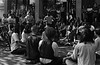 4*Fri, Oct 25, 1968<br /> *People: yoga group<br /> Subject: bell<br /> *Place: Sproul Plaza<br /> Activity: <br /> Comments: bell