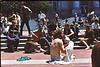 3*Fri, Jun 28, 1968<br /> *People: hippie, guitar player, barefoot girl<br /> Subject:<br /> *Place: Sproul steps<br /> Activity: <br /> Comments: calm before the storms of late '68 -'70