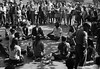 5*Fri, Oct 25, 1968<br /> *People: yoga group<br /> Subject: <br /> *Place: sproul plaza, campus<br /> Activity: <br /> Comments: Holy Hubert in R foreground.  Spectators really looked intently.