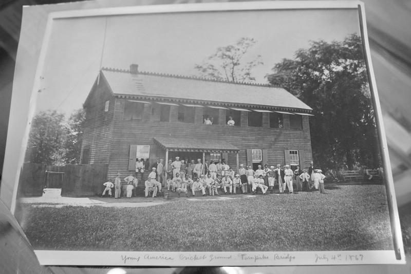 Young America Club House at Turnpike Bridge, 1867