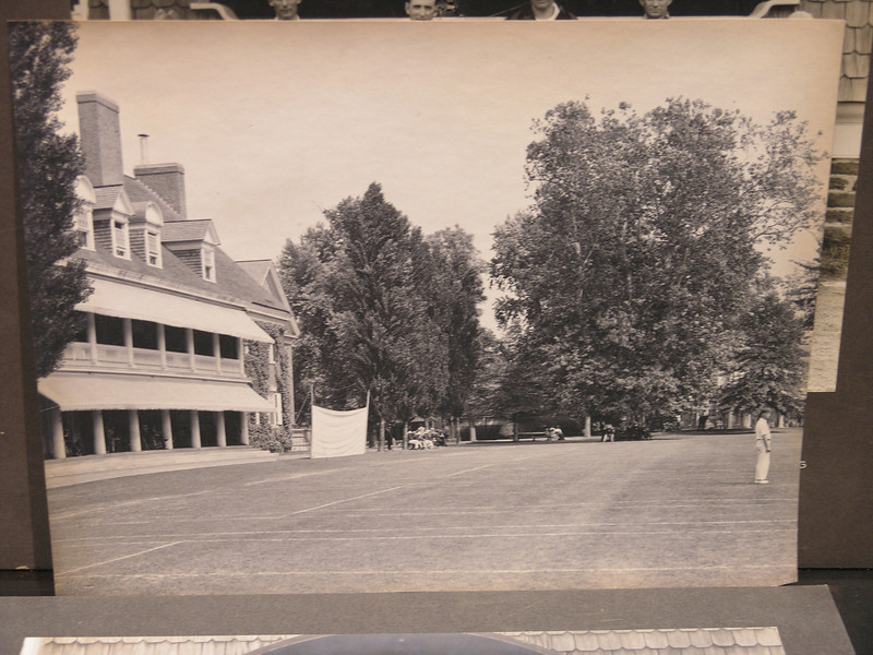 Germantown Cricket Club with lawn set up for tennis, date unknown.
