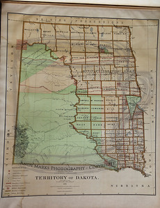 "Much of what became S.Dakota was ""Sioux Reservation"" in 1876. This map predates the discovery of gold in the Black Hills: more counties were subsequently named in western S.Dakota."