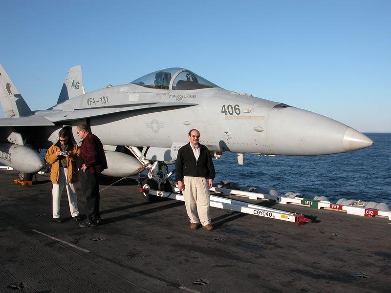 Me beside a F18 Hornet.