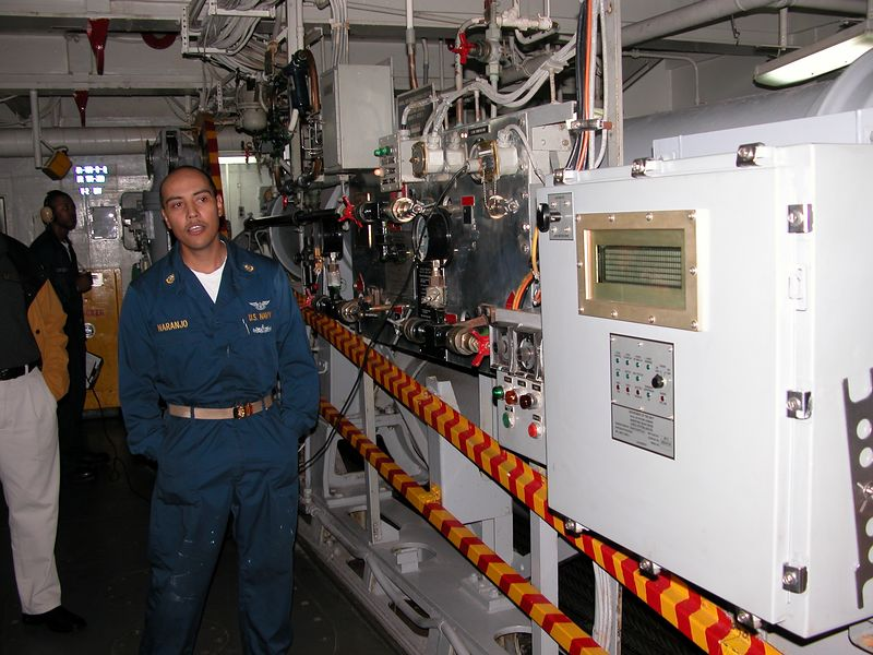 There is one of these rooms for each tailhook cable on  the flight deck.