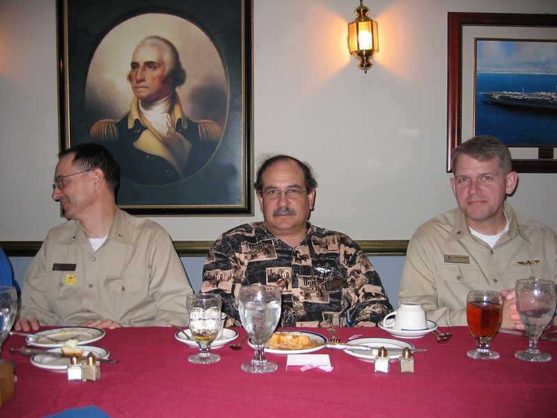 Officer dinner.  We were encouraged to talk with the crew.  At dinner we were each seated between 2 officers with whom we could discuss anything.  On my right is the Chief Medical Officer and on my left is the Chaplin.