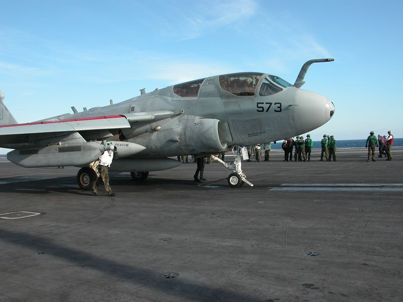 We were on the Flight Deck near the catapult where this plane was launched.