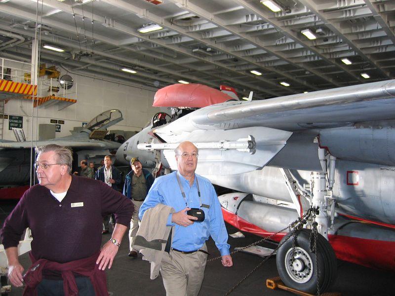 Under the flight deck of the GW.