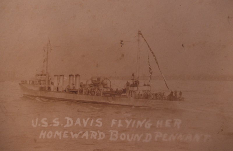 "USS Davis (DD-65) was a Sampson-class destroyer in the United States Navy during World War I.  <br />  <a href=""http://www.navsource.org/archives/05/065.htm"">http://www.navsource.org/archives/05/065.htm</a>"
