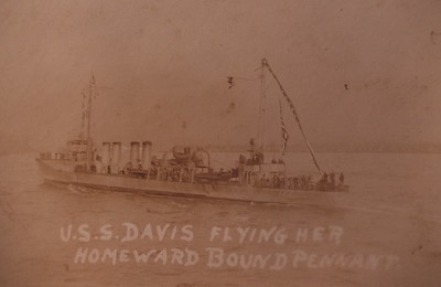 USS Davis (DD-65) was a Sampson-class destroyer in the United States Navy during World War I.   http://www.navsource.org/archives/05/065.htm