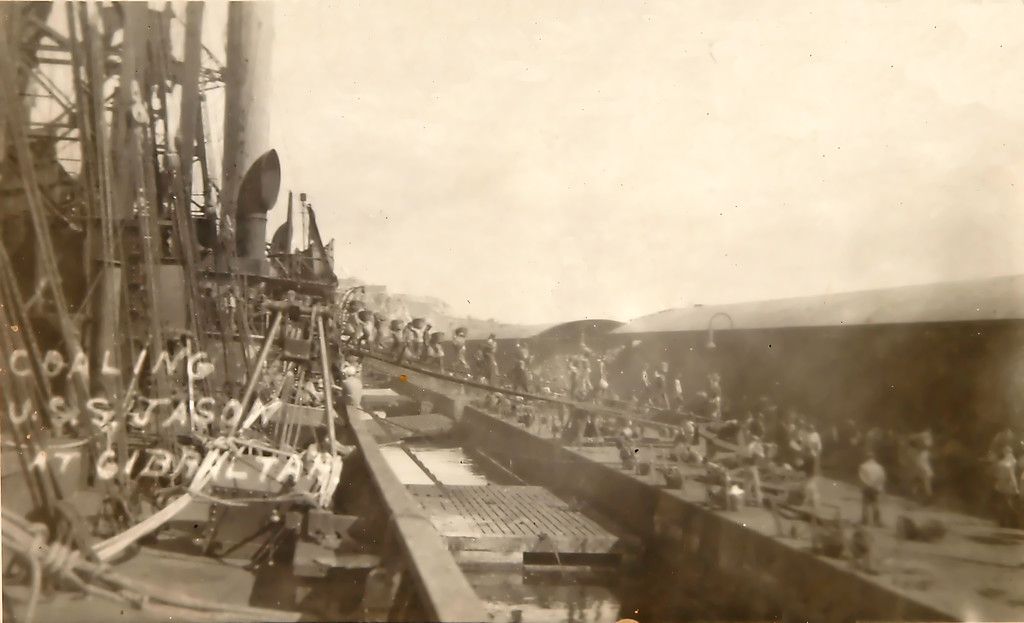 Coaling ship at Gibraltar