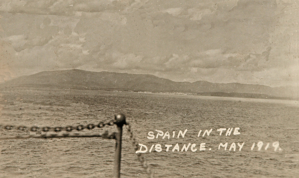 Jason 1919 Spain. <br /> <br /> Original Notes On the Back of Picture: Just before entering the straits of Gibraltar.