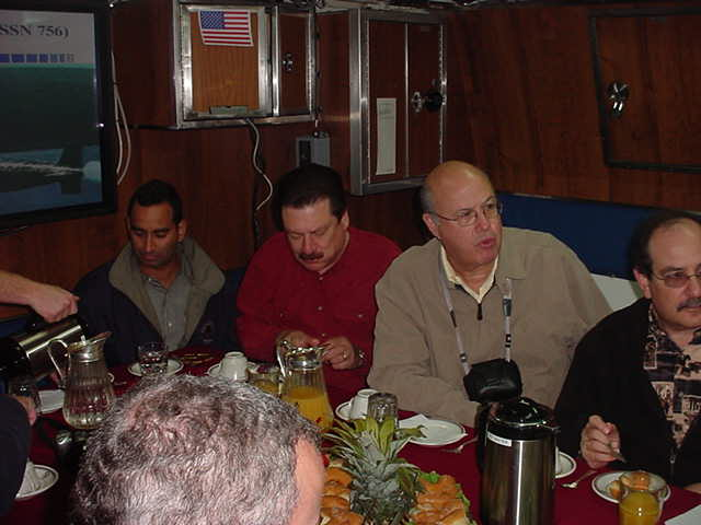 Our group being briefed onboard the Scranton