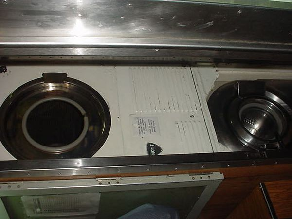This is the total laundry facility onboard the sub.