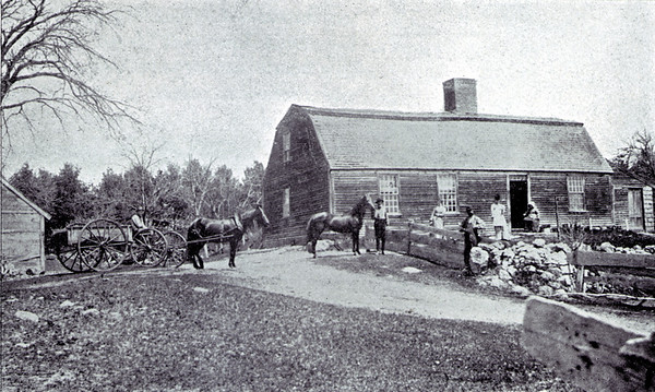 The Wilson Home in Londonderry, New Hampshire the actual Ocean Born Mary House. From Willeys Book of Nutfield.
