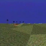 Virtopia video: The Desert Interface from Virtopia 1992-94. Virtual Reality by Mike Goslin and Jacki Morie. Goes right into the menacing spider environment, with several speeds oif heartbeats, depending on the spider's state (attack, ignore, etc).