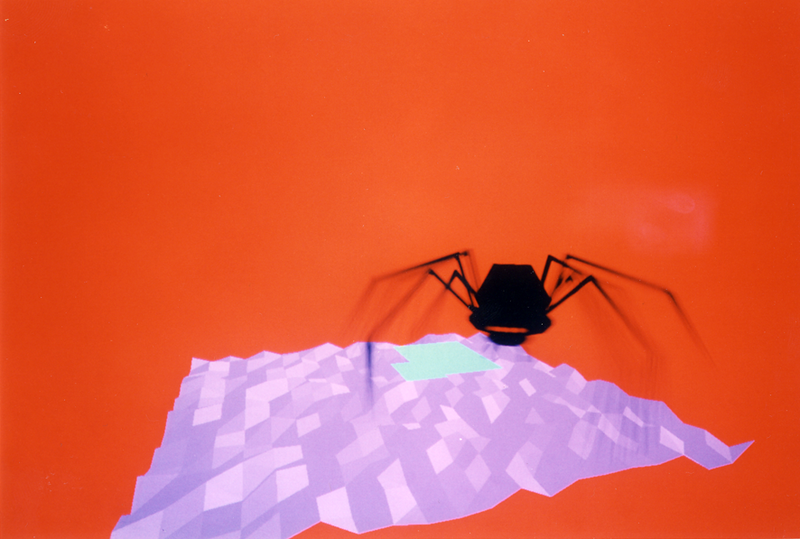 Virtopia: The Spider Experience. The spider had 8 states, from attack to ignore, each tied to a different speed of a heartbeat sound. A visitor's  heartbeat would entrain (synch up)  to the spdier's  heartbeats, especially the fast ones, causing some of them to panic in this experience.