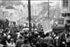 3*Sat, Nov 15, 1969<br /> *People: crowd leaving<br /> Subject: <br /> *Place: fulton/35 th ave, san francisco<br /> Activity: <br /> Comments: