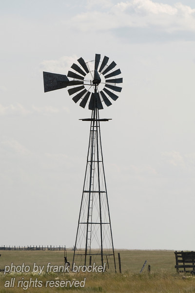 Windmill at an abandoned farm