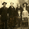 5. In this Wells family photo from about 1923, they are, from left, Fred Shadwell, Julia Wells Shadwell, Julia's niece Marguerite Smith, Julia's sister Nancy Wells Smith; and in front are Julia's son Richard and daughter Mary.