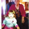 3. Billie Lou Wells Hill with one of her grandchildren.