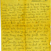 8. [NOTE – I DON'T UNDERSTAND THE DATE. IT APPEARS TO BE 'FRANCE 25, 1918' BUT I WOULD GUESS IT IS SEPTEMBER OR OCTOBER 25, 1918.]<br /> My dear Mother. Will try and ancer your letter I received a few days ago and was more than glad to here you were well. This leaves me in good health and getting along all ok. I was some what surprised to here you were moving back to West Plains Mo but I don't blame you a bit for Springfield sure is a cold no good place and besides you need to be close to the girls so if you get sick they can take good care of you. Well it has begun to get pretty cold here now and I am dreading it to. But I will make it some how. well I got a letter from C.C. the other day and he says he is getting along all ok and making good money.