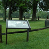 "Here in the Family Cementery lie the remains of ""Stonewall"" Jackson's left arm. The battle of Chancellorsville, where he was shot by his own troops. Surgeons removed the mangled appendage at the Wilderness Tavern field hospital, one-half mile to the left, early on May 3, 1863."