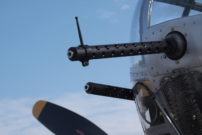A B-25's nose.
