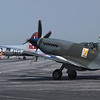 A MK XVIII Spitfire arrives at the show & finds a place to park.